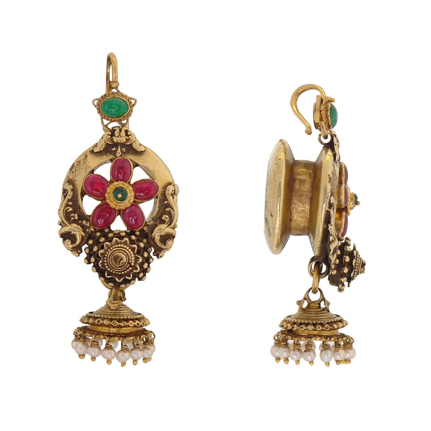 antique gold studs from prince jewellery