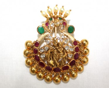 Radha Krishna Pendant from Naj Jewellers