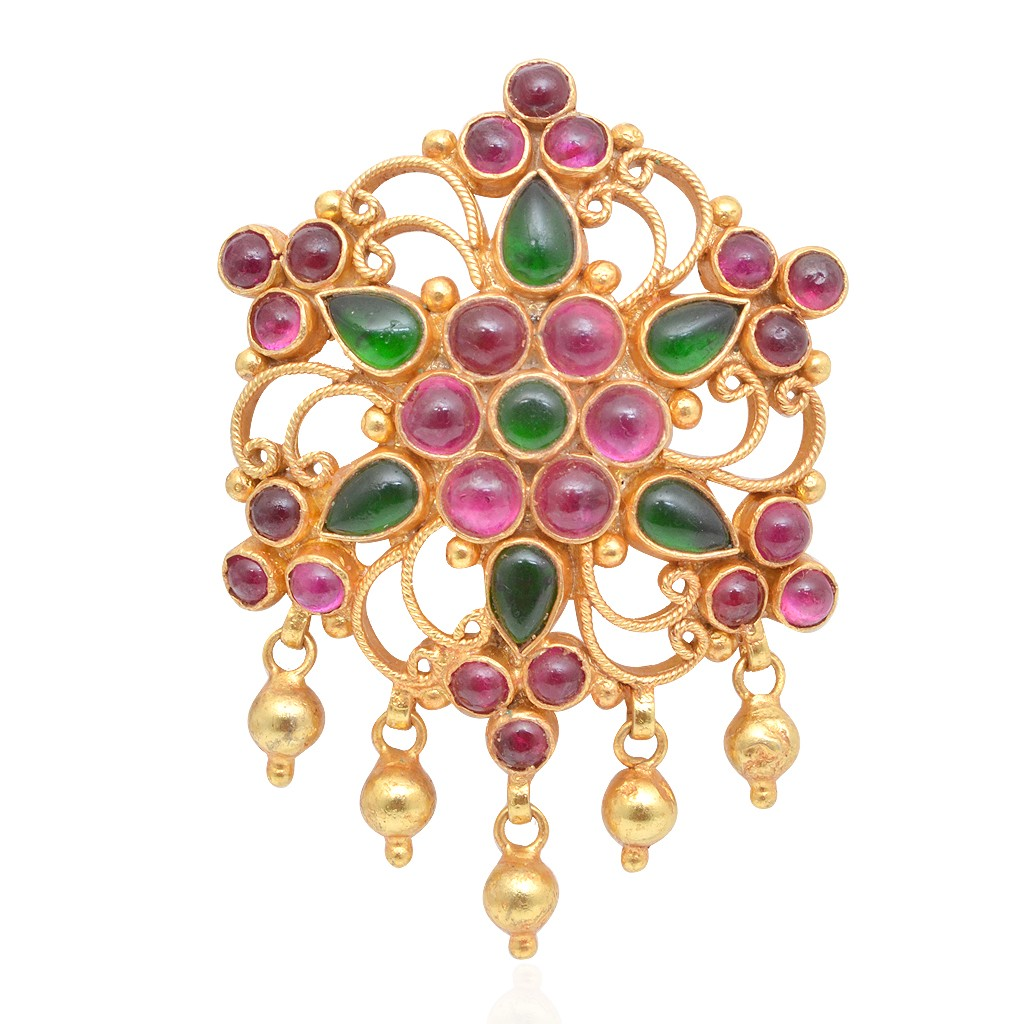 ruby-emerald-gold-coated-silver-pendant-from-grt-jewellers